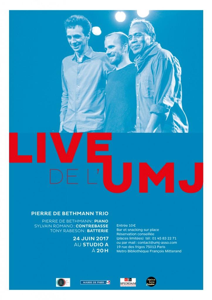 affiche Pierre De Bethmann Trio